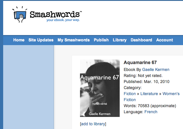 Smashwords 3eme édition en eBook
