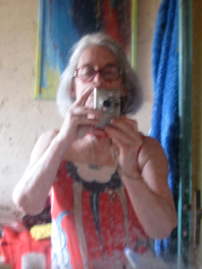 autoportrait flou en soie féraud 70