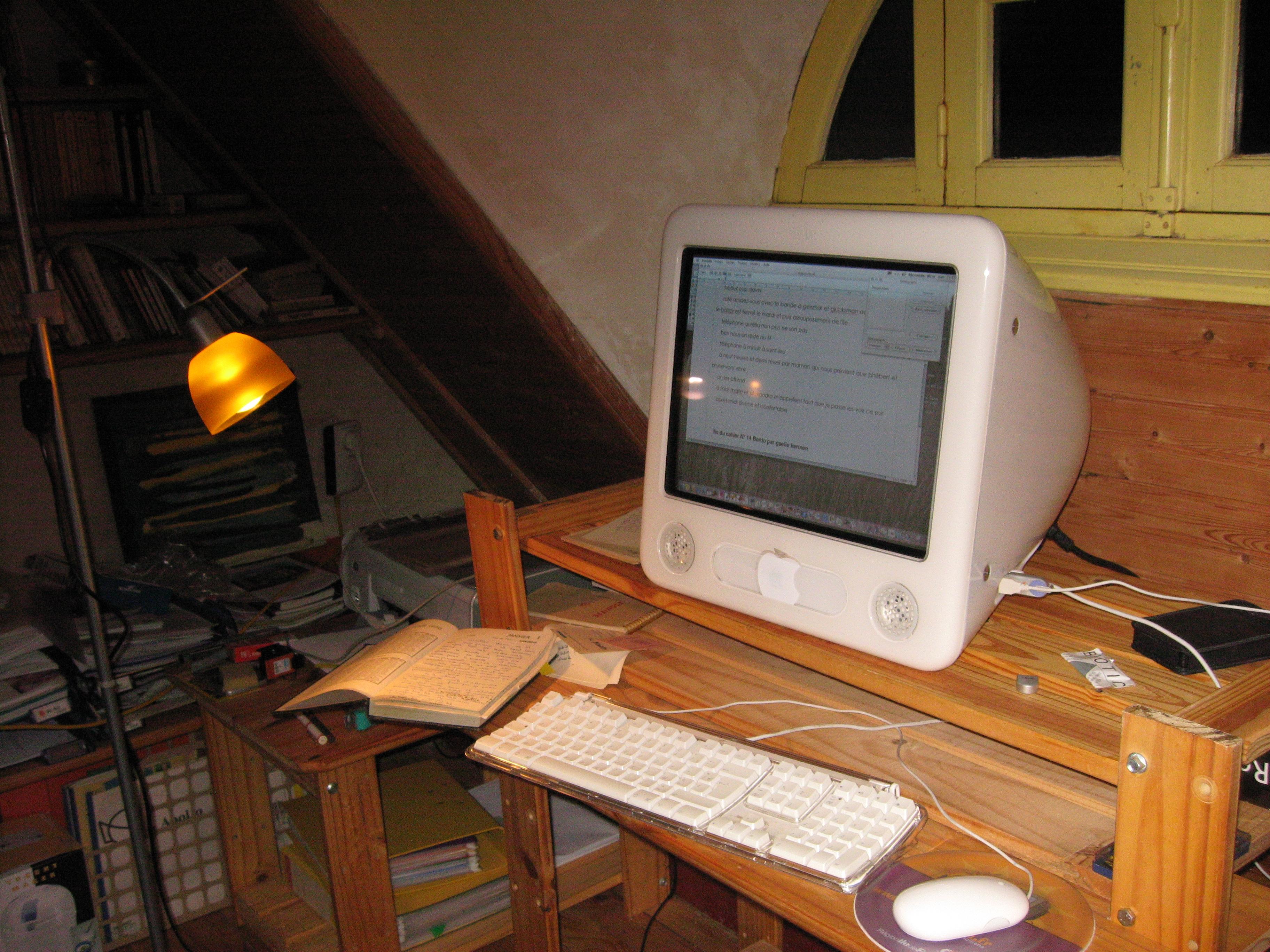 Saisie des cahiers sur l'eMac