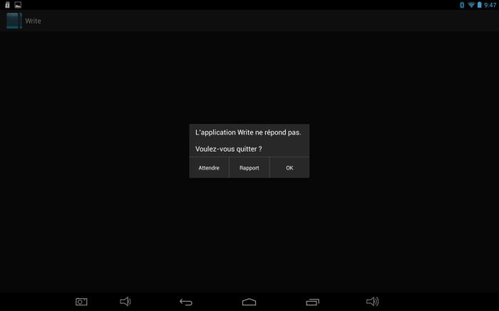 Copie d'écran de tablette © gaelle kermen 2015