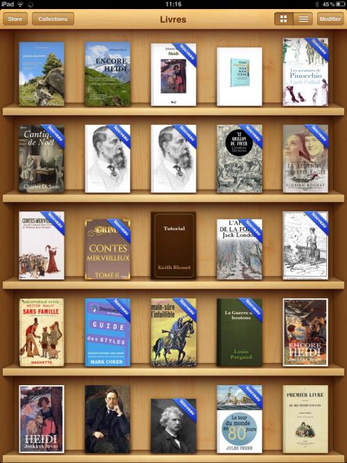 La bibliothèque de l'iPad (je cherche des livres de jeunesse pour mes petits-fils)