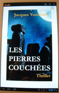 Ecran tablette Cube Pierres couchées de Jacques Vandroux