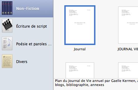 Journal modele
