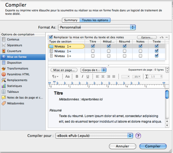 niveau 1 tout compiler scrivener