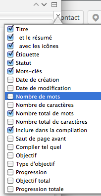 Options du mode Plan