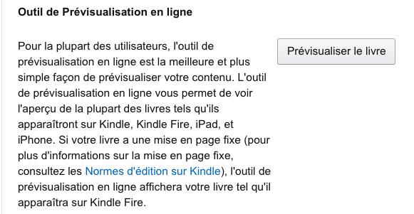 Amazon KDP outils de previsualisation