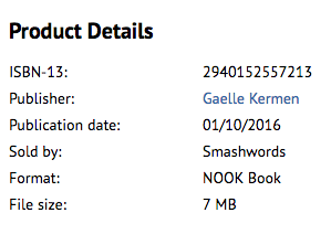 format Nook book