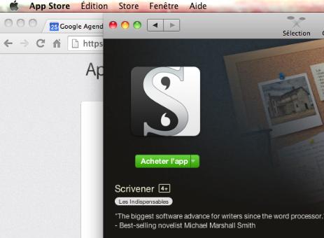 Achetez Scrivener sur Mac App Store