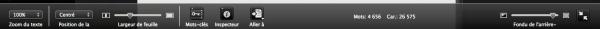 Composer barre de menu du bas