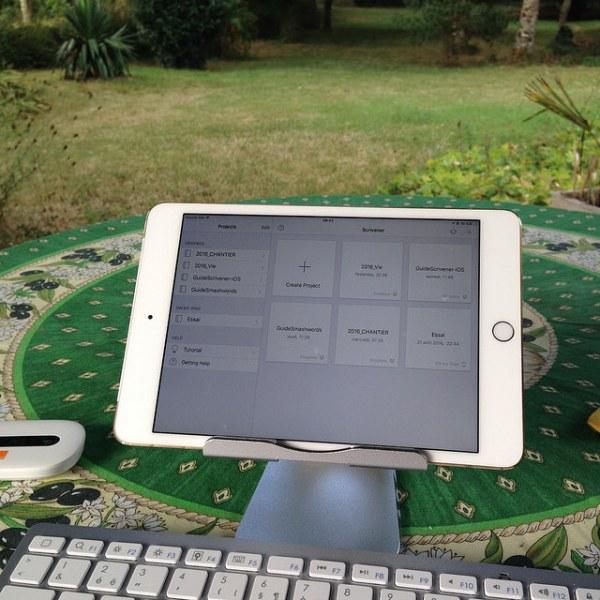 Ecrire dehors, un rêve de toujours, avant sur les cahiers, maintenant sur ScrivenerApp